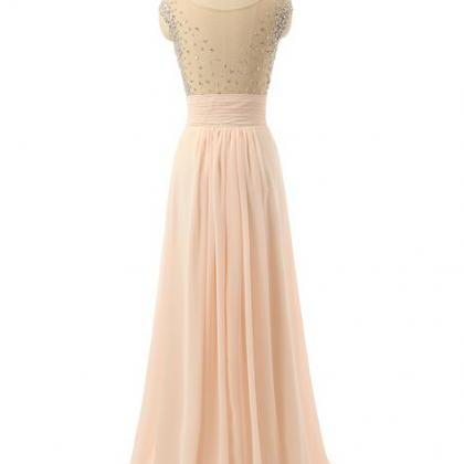 Long prom dress, cap sleeve prom dr..