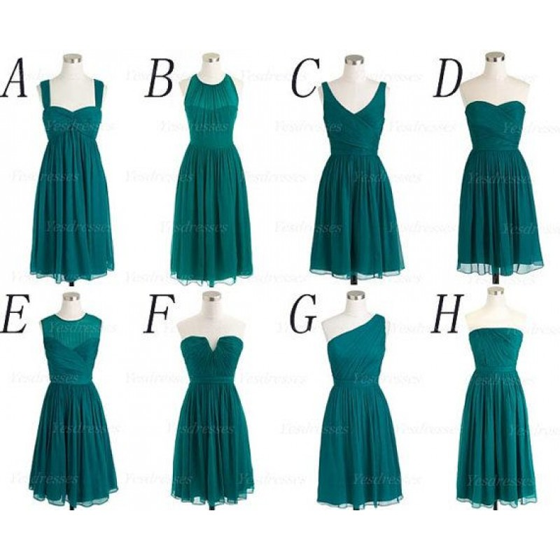 Teal Bridesmaid Dresses Short Bridesmaid Dresses