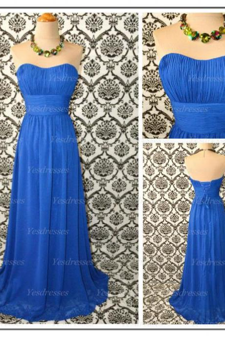 Long bridesmaid dresses, lace up bridesmaid dress, simple bridesmaid dress, cheap bridesmaid dresses, blue bridesmaid dress, PD15227