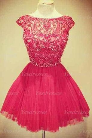 short prom dress, cap sleeve prom dress, cute prom dress, junior prom dress, on sale prom dress, cheap prom dress, homecoming dress,PD15284