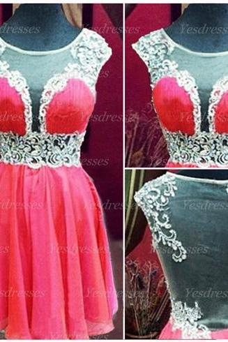 short prom dress, cap sleeve prom dress, simple prom dress, junior prom dress, on sale prom dress, cheap prom dress, homecoming dress,PD15248