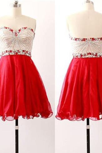 Red homecoming dress, beading homecoming dress, junior homecoming dress, on sale homecoming dress, cheap prom dress, homecoming dress,PD15150