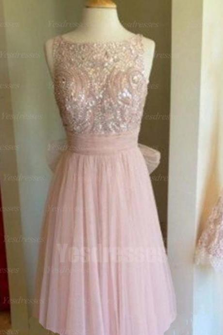 short prom dress, off shoulder prom dress, junior prom dress, pink prom dress, pretty prom dress, custom prom dress, PD15135