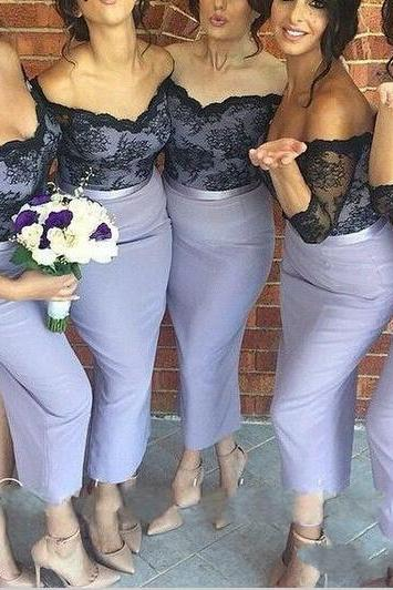 sexy bridesmaid dress, lace bridesmaid dress, bridesmaid dress with sleeves, new design bridesmaid dress, dress for wedding, PD015443