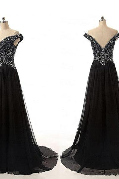 long prom dress, black prom dress, modest prom dress, new design prom dress, elegant prom dress, affordable prom dress, prom dress, evening dress, PD05116