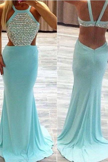 Long prom dress, blue prom dress, sexy prom dress, cheap prom dress, backless prom dress, popular prom dress, occasion dress, PD13031