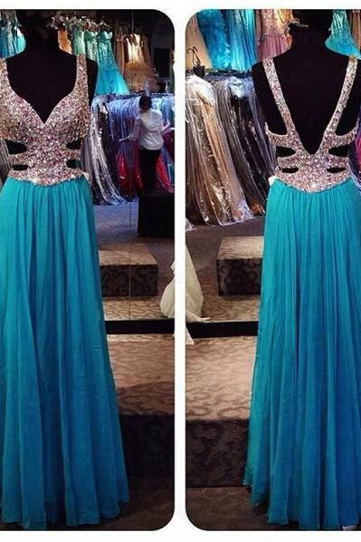 Long prom dress, blue prom dress, off shoulder prom dress, elegant prom dress, popular prom dress, sexy prom dress, chiffon prom dress, evening dress, PD13059