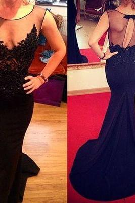 Black prom dress, long prom dress, mermaid prom dress, sexy prom dress, 2016 prom dress, on sale prom dress, popular prom dress, formal prom dress, evening dress gown, PD125177