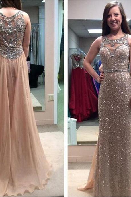 Beading Prom Dress, Sparkly Prom Dress, 2016 Prom Dress, Long Prom Dress, Junior Prom Dress, Sequin Prom Dress, Unique Prom Dress, Evening Dress, PD125190