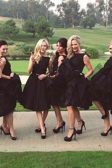 Short bridesmaid dress, black bridesmaid dress, popular bridesmaid dress, morden bridesmaid dress, wedding party dress, occasion dress, 20407